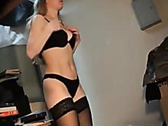 Lovely model changing lingerie