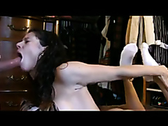 Awesome homemade face fucking with step-sister