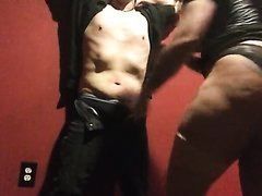 Michelle pleasure to punch his stomach 2