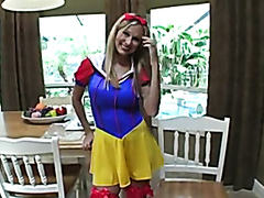 Wife dresses as Snow White