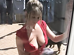 Sexy down blouse 2