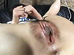 Asian babe has her hairy pussy drilled really hard