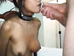 Thai prostitute pleasures a thick shaft for a taste of cum