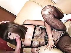Skinny Asian wench enjoys riding hard on a throbbing dick