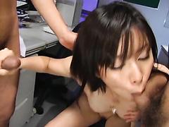 Beautiful office girl gets a nice creampie