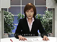 Japanese news anchor takes facials on air