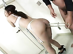 Helpless Asian slut drilled and toyed