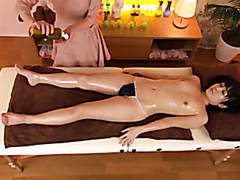 Japanese massage turns into a lesbian sex