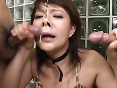 Little piggy face slut sucking dicks