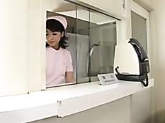 Japanese nurse fucks her patient
