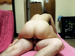 Cowgirl fucked and creampied ex wife