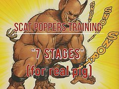 "Scat poppers training ""stages of pig"""