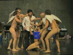 MEN AND WOMEN NAKED ON STAGE