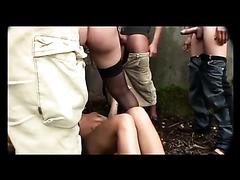 Naughty bitch and a kinky stud enjoy getting peed on