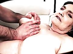 Horny mature woman has her wet snatch pummeled hard
