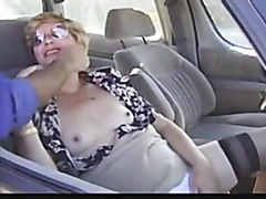 Raunchy granny has her wet snatch fingered and rammed really hard