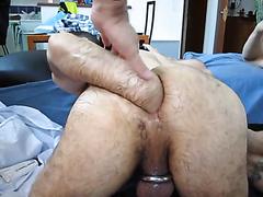 Kinky boyfriend lets his man slide a fist in his butt