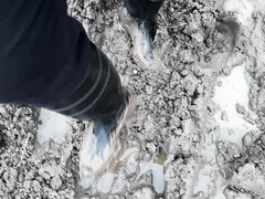 Rubber boots in mud - video 3