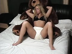 Blonde Girl Makes A Big Mess In Her Diaper