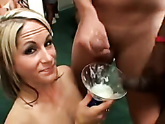 Swallowing many loads of cum, 2