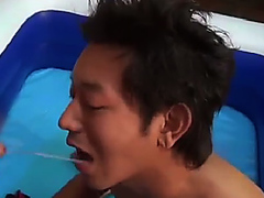 yet another Asian think drinking piss