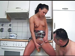 Guy Swallow Piss From His Mistress