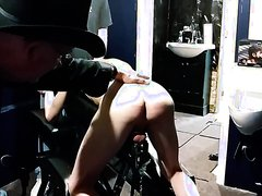 COUNTRY SADIST MASTER 04 - CHASTITY PUP SLAVE EARNS A CANING & ASS TOOL
