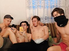FOUR HOT RUSSIAN FRIEND ON CAM - video 2