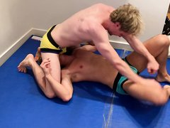 Wrestling Match #2 with Mason and Rocky