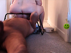 Naughty fat bitch has her pussy and her anus licked hard