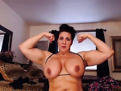 Flexing boobs