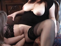 Chubby mature blonde enjoys fisting her stunning girlfriend