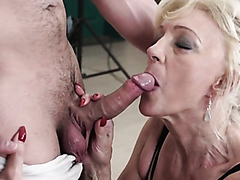 Kinky mature blonde sucks and rides on a thick shaft