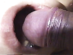 Naughty Asian stunner makes a hard cock cum and pee in her mouth