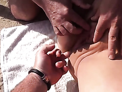 Lusty playgirl has her tight butthole and her wet pussy fingered