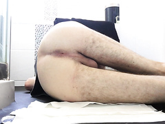 Warm shit slides down ass cheek