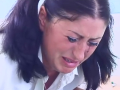 Cute Schoolgirl Is Caned By Her Teacher