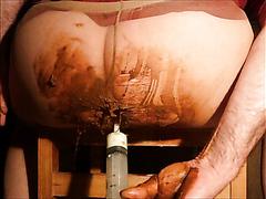 Milch-enema,und pissen in pantyhose masturbation