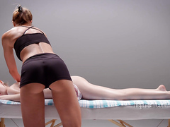 Pretty girl gets full body massage, nr.2, full HD