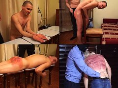 Hard Spanking and back whipping for boy