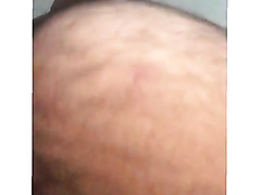 A hot hairy butt filmed while walking