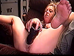 BBC hot milf trains squirt ramming Dildo