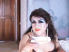eat sht,beautiful transvestite eating shit sandwich