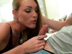 Redhead with amazing body figure gets banged