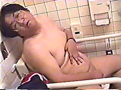 Cute chubby and wild japanese man jacks and pisses