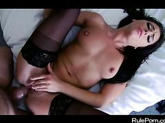 Brunette in Stockings in a HD Porn Video