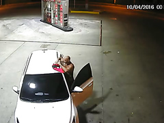 Caught on Security Camera! Black Guy @ the Gas Station!