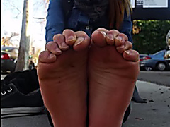 Young Asian Adult Woman with nice soles