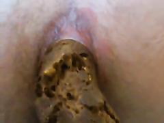 nasty hairy female pooping