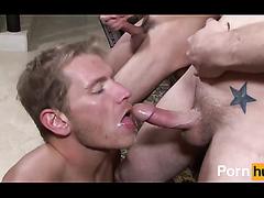 cum eating - video 2